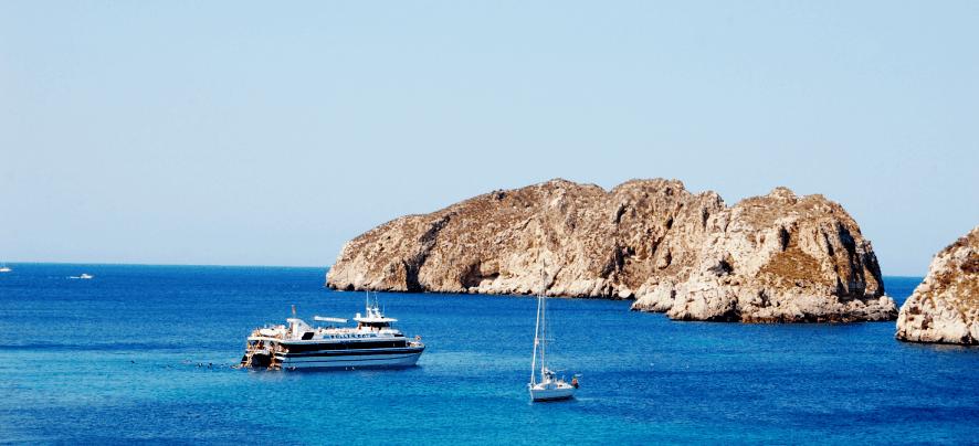 Bootsfahrt in der Bucht von Palma de Mallorca