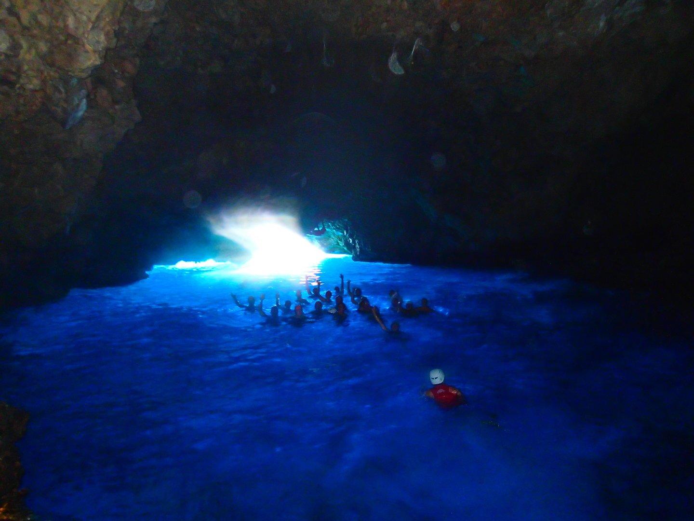 La cueva azul en Mallorca