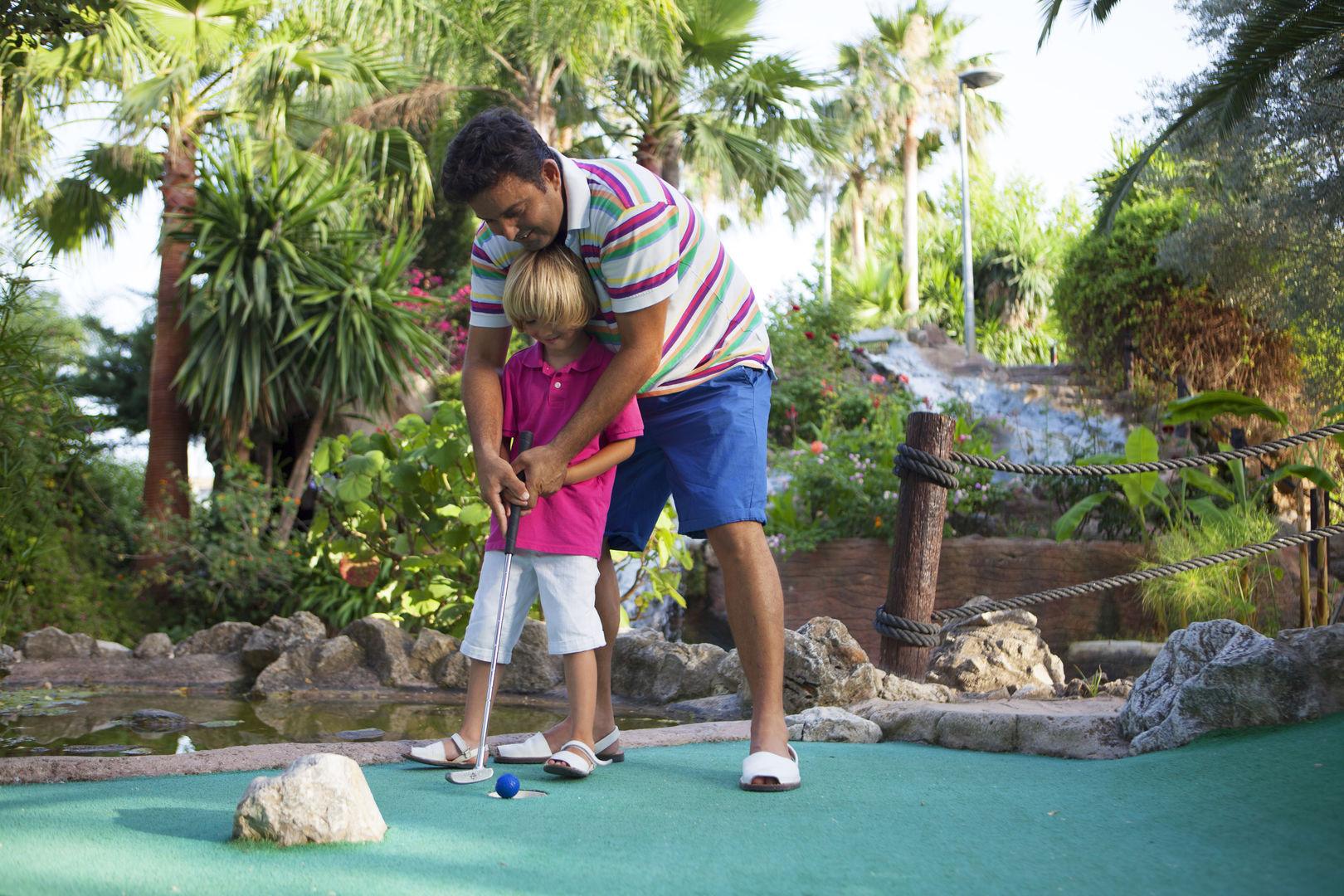 Jugando en Golf Fantasia