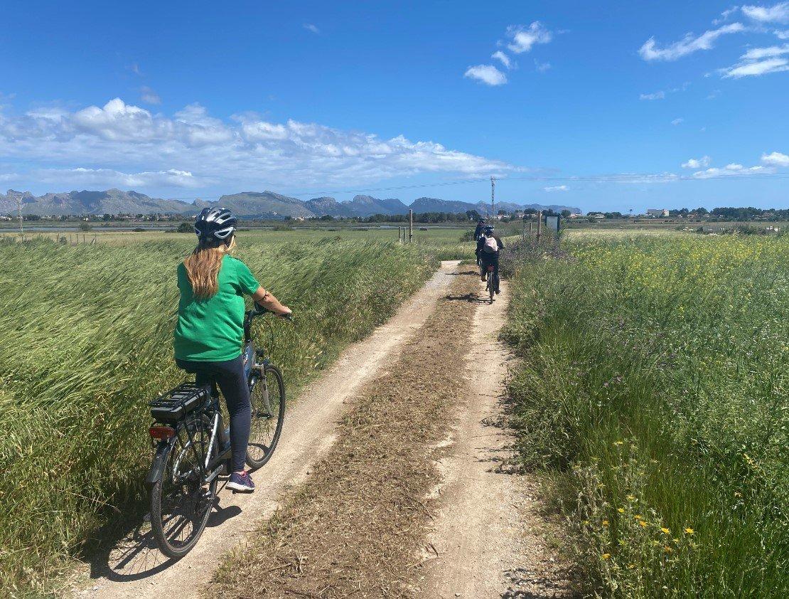 cycling around alcudia