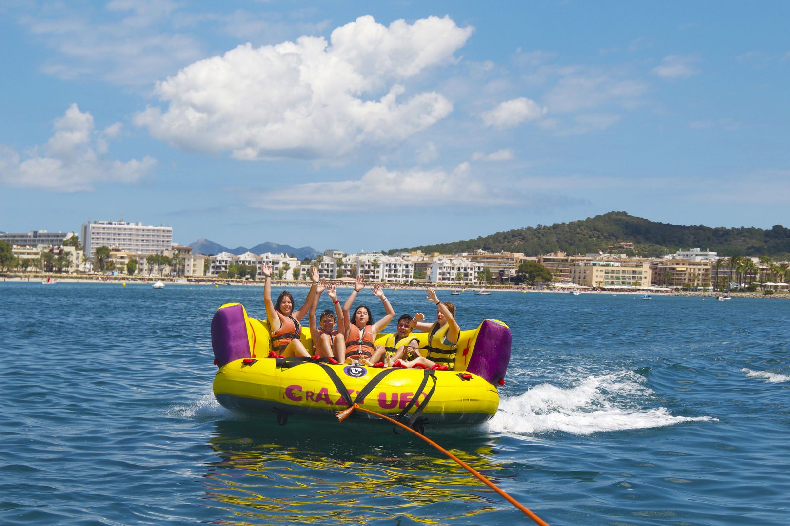 Activity of Sofa from water activities on Mallorca